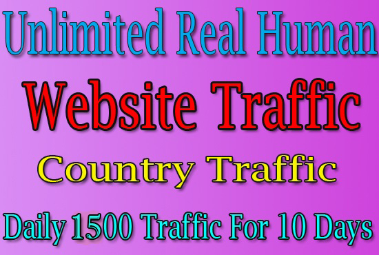 15000 Real Human Trafffic For 10 Days