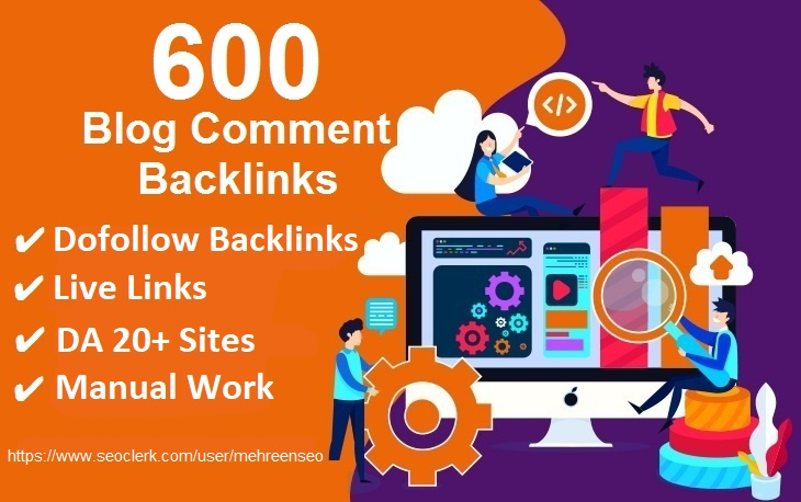 I will do 600 Blogcomment dofollow Backlinks with DA 20+