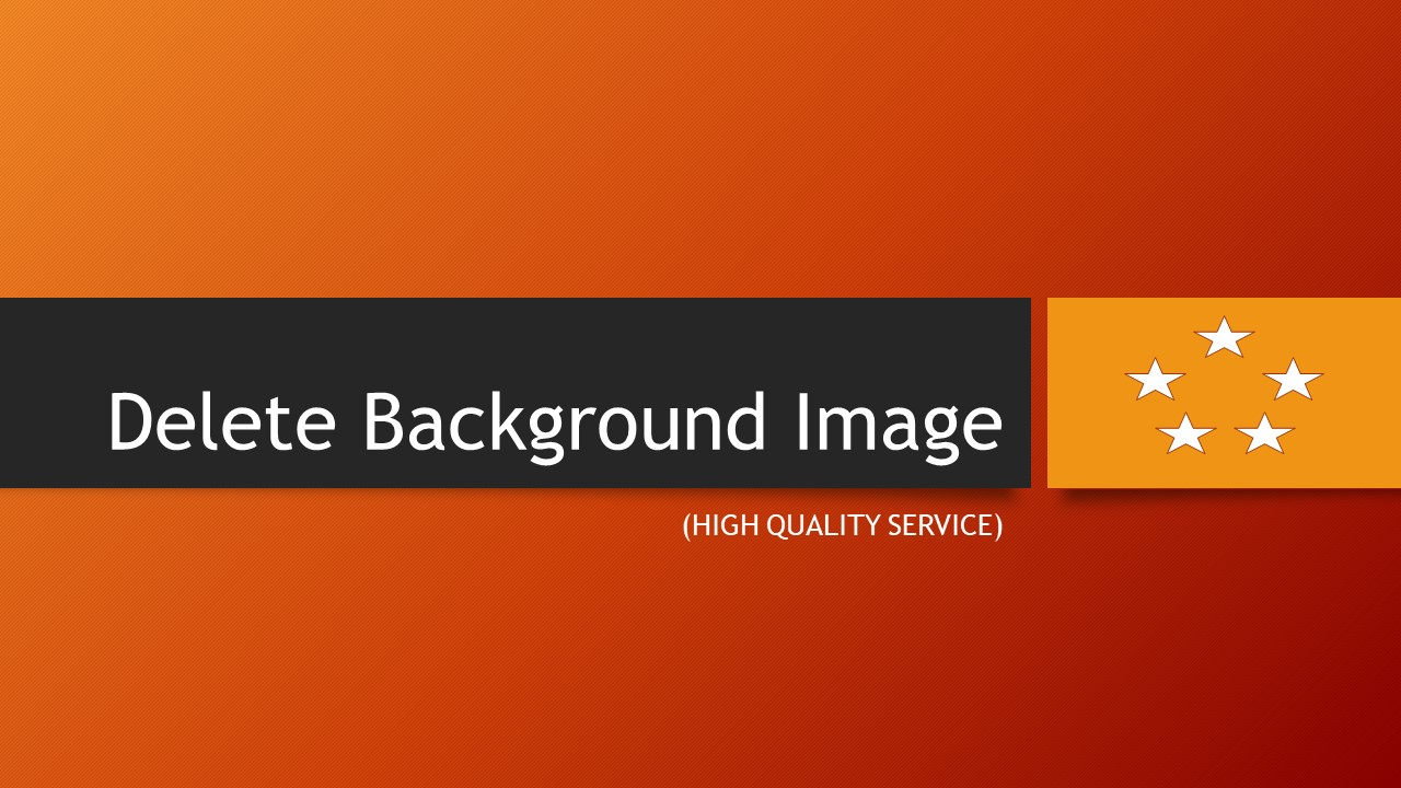 delete background image THREE image - high quality service