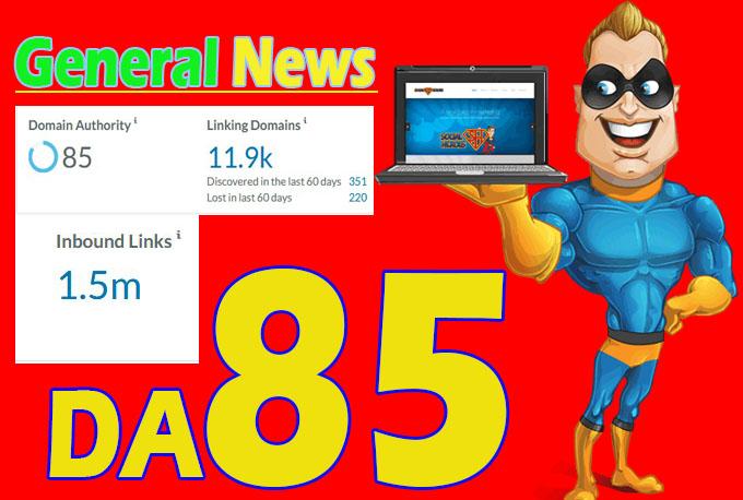 guest post on my da 85 general news blog