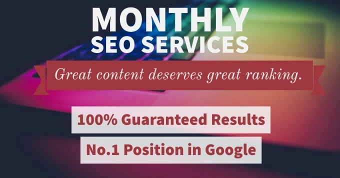 I will do monthly SEO service for google 1st page ranking