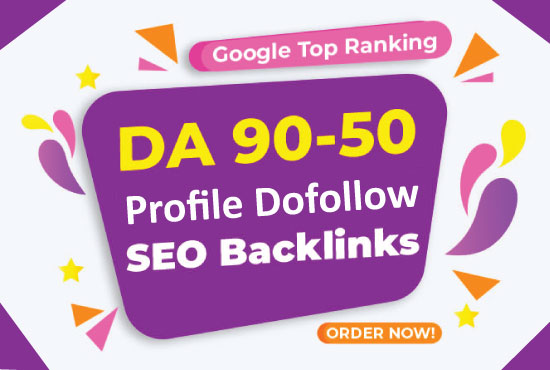 I will create 100 high DA, PA SEO Profile dofollow backlinks DA 60+