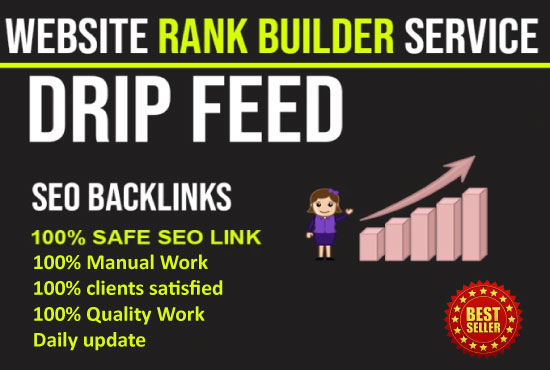I will provide 20days SEO drip feed dofollow backlinks DA 40+ for a daily update