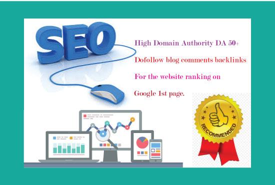 I will create 600 dofollow blog comments backlinks DA 40+