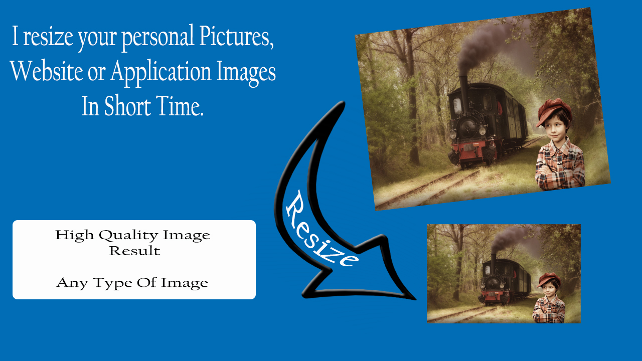 I will resize,  rename and crope high quality images on any topic