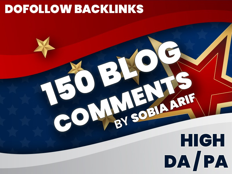 I will provide 150 Best Quality Dofollow Blog Comments