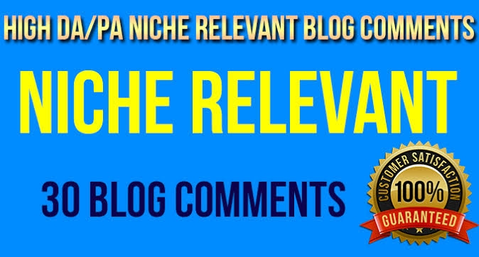 I will do 30 niche revent blog comment in 2