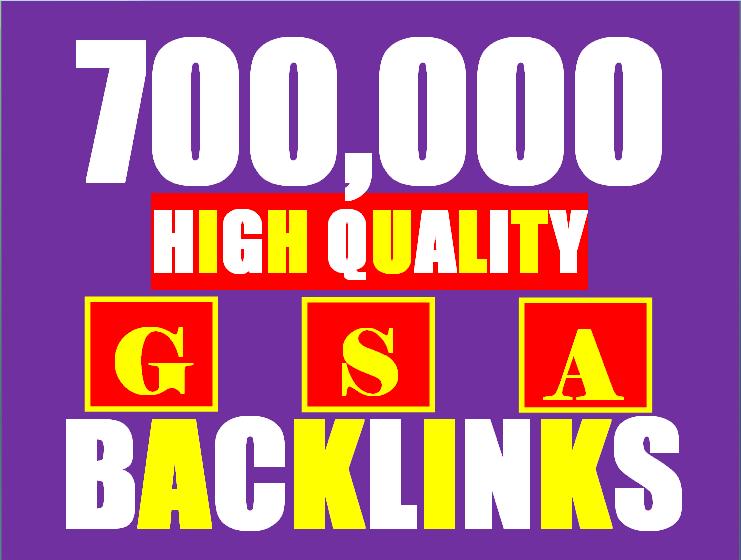 700k gsa ser backlinks for faster ranking website, page, video
