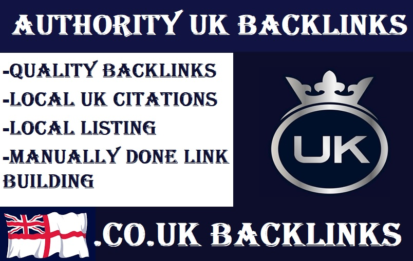 I will build 20 high quality co UK Backlinks,  link building