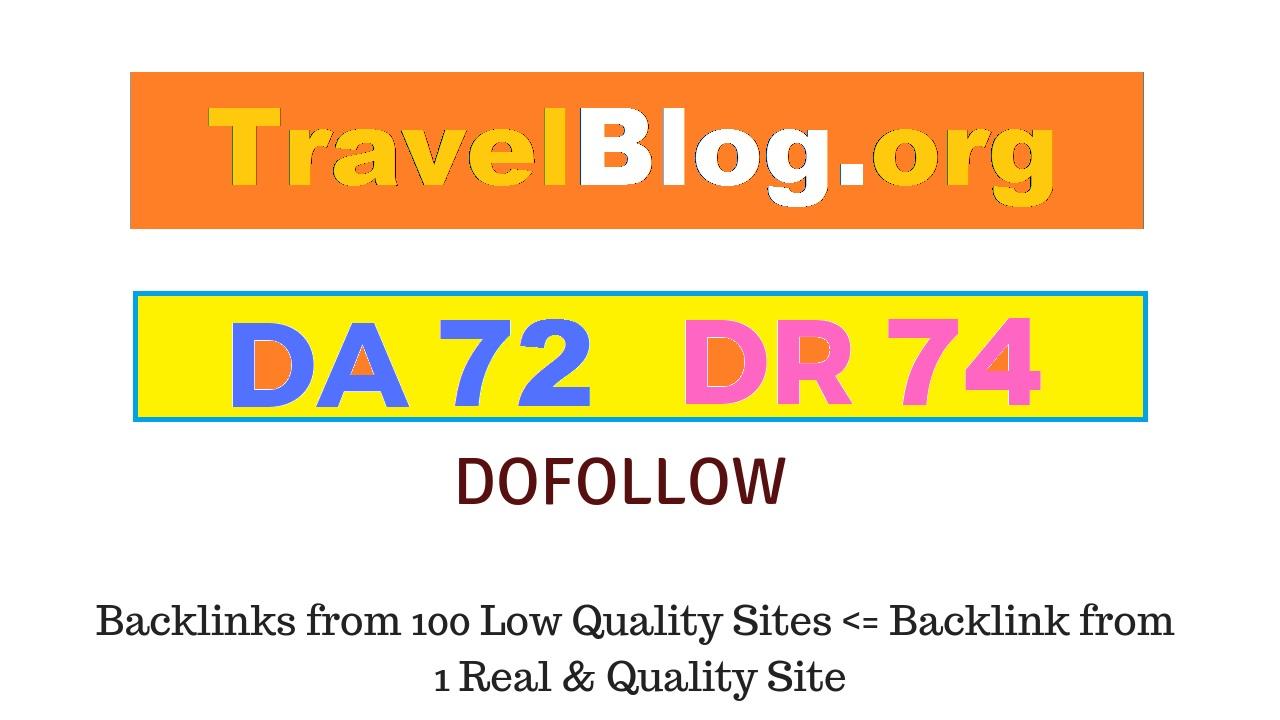 I will publish guest post on travelblog da75