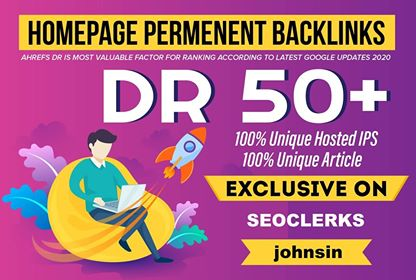 Provide 10 PBN Dr 50+ Homepage Dofollow PBN's Backlinks
