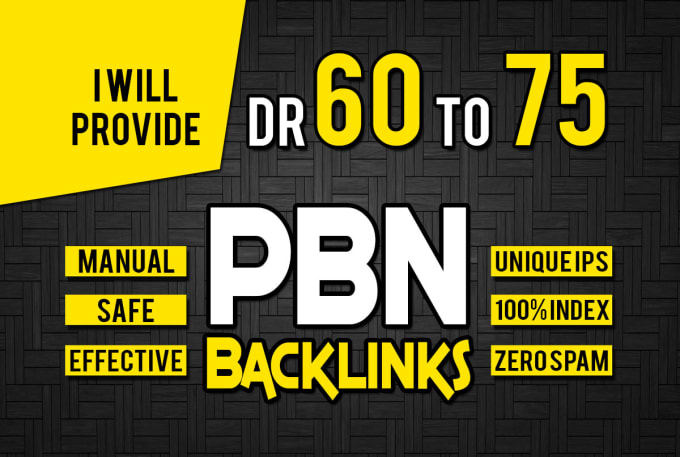 I will Provide 10 DR 60+75 Homepage Pbn Unique Backlinks