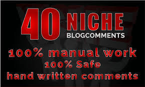 i make 40 niche related blog comment high quality backlinks