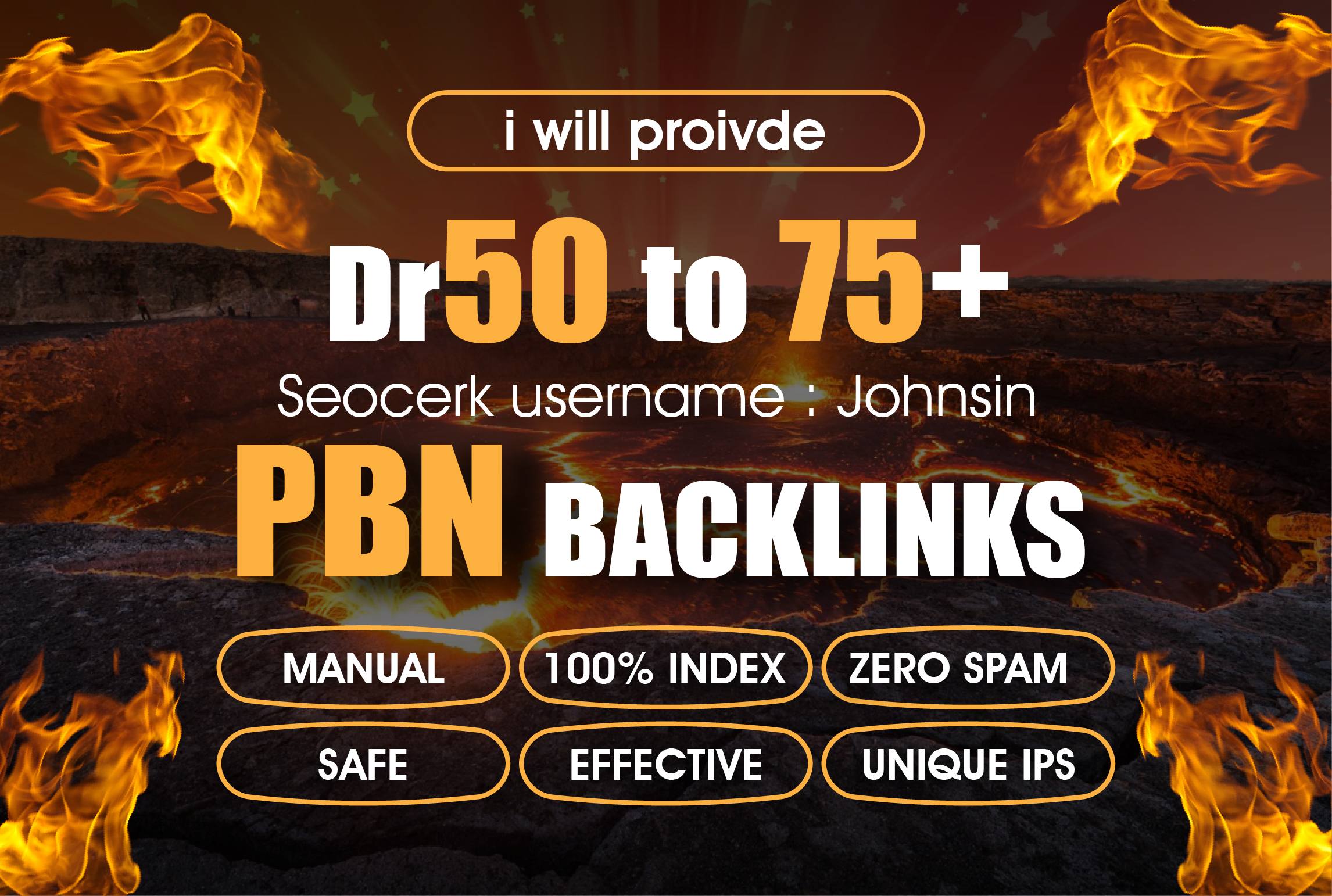 I will proivde 20 Manual High Dr 50 to 75 Plus Homepage PBN Dofollow Backlinks