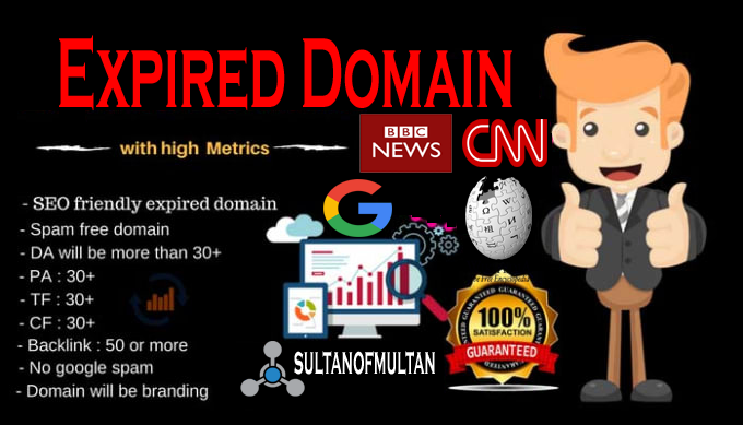 I will find high authority ahrefs DR 50 expired domains
