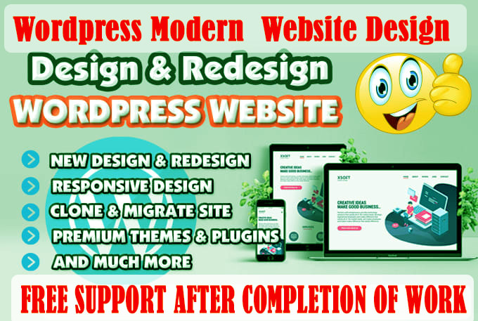 Create SEO Friendly WordPress Website Design & Landing Page