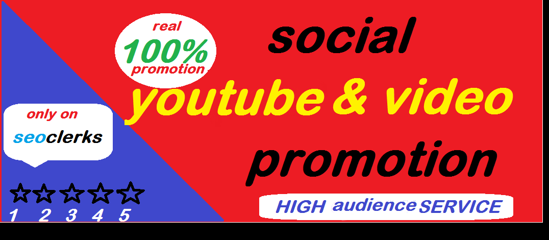 Youtube Video Promotion Boost With Social Marketing
