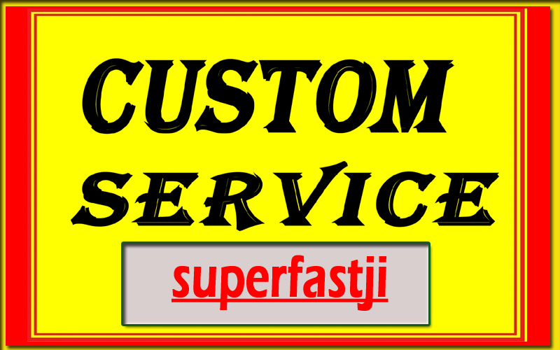 super Delivery Custom Work Order For My regular Clients