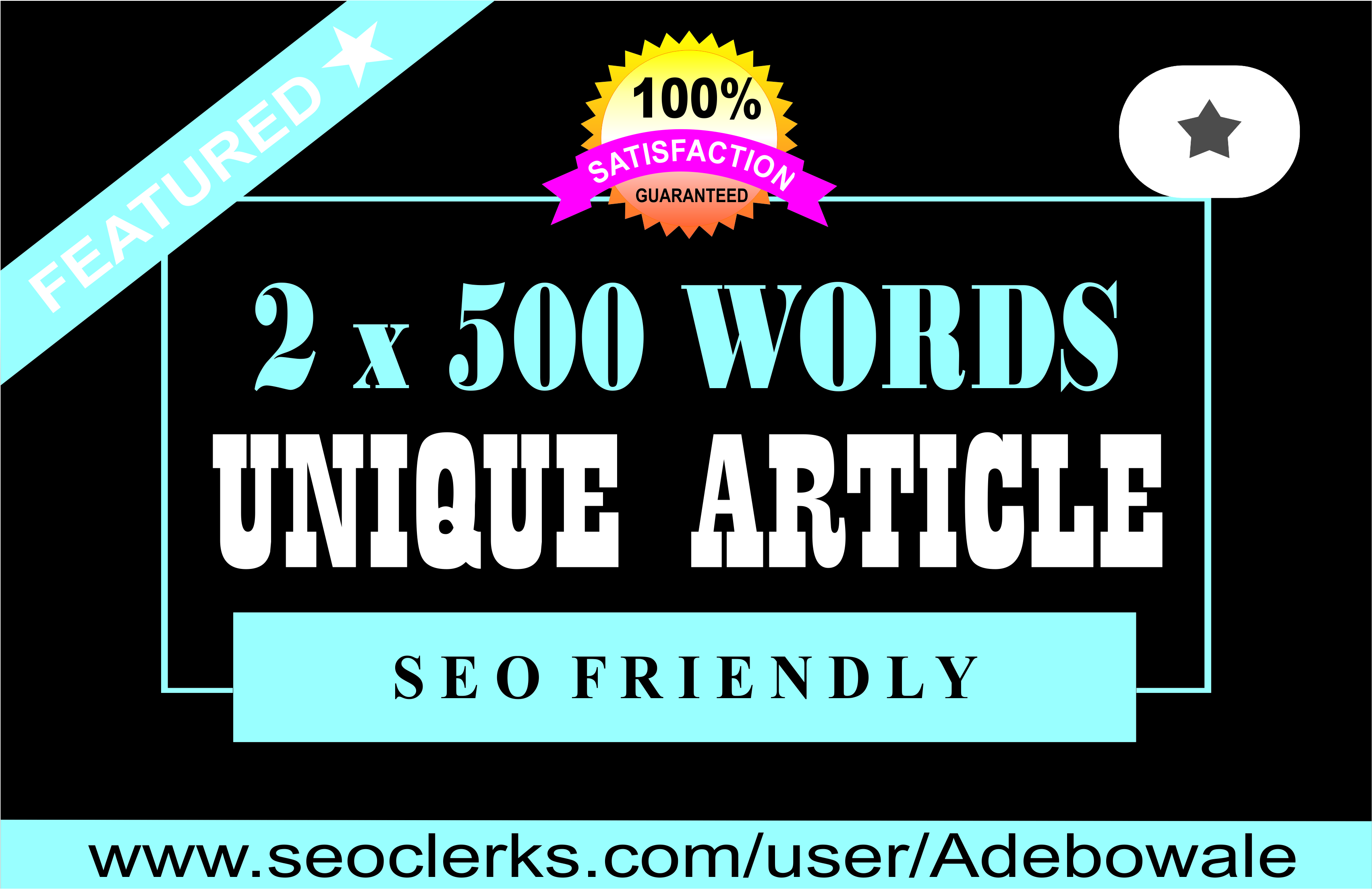 2 x 500 words Premium Article writing,  Content Writing,  well-written for your website or blog