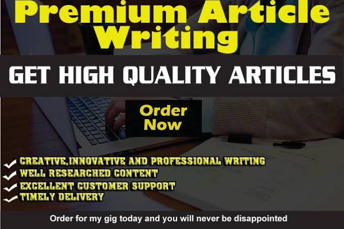 I will write 1000 words unique and good quality articles for your website/blog