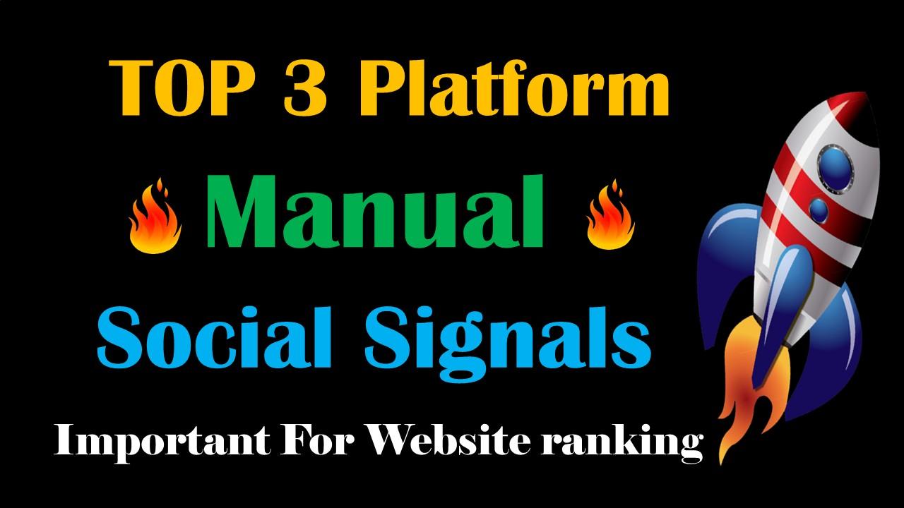 Top 3 Platform 15,000 Social Signals Network backlink SEO bookmarks Boost Website Google Ranking