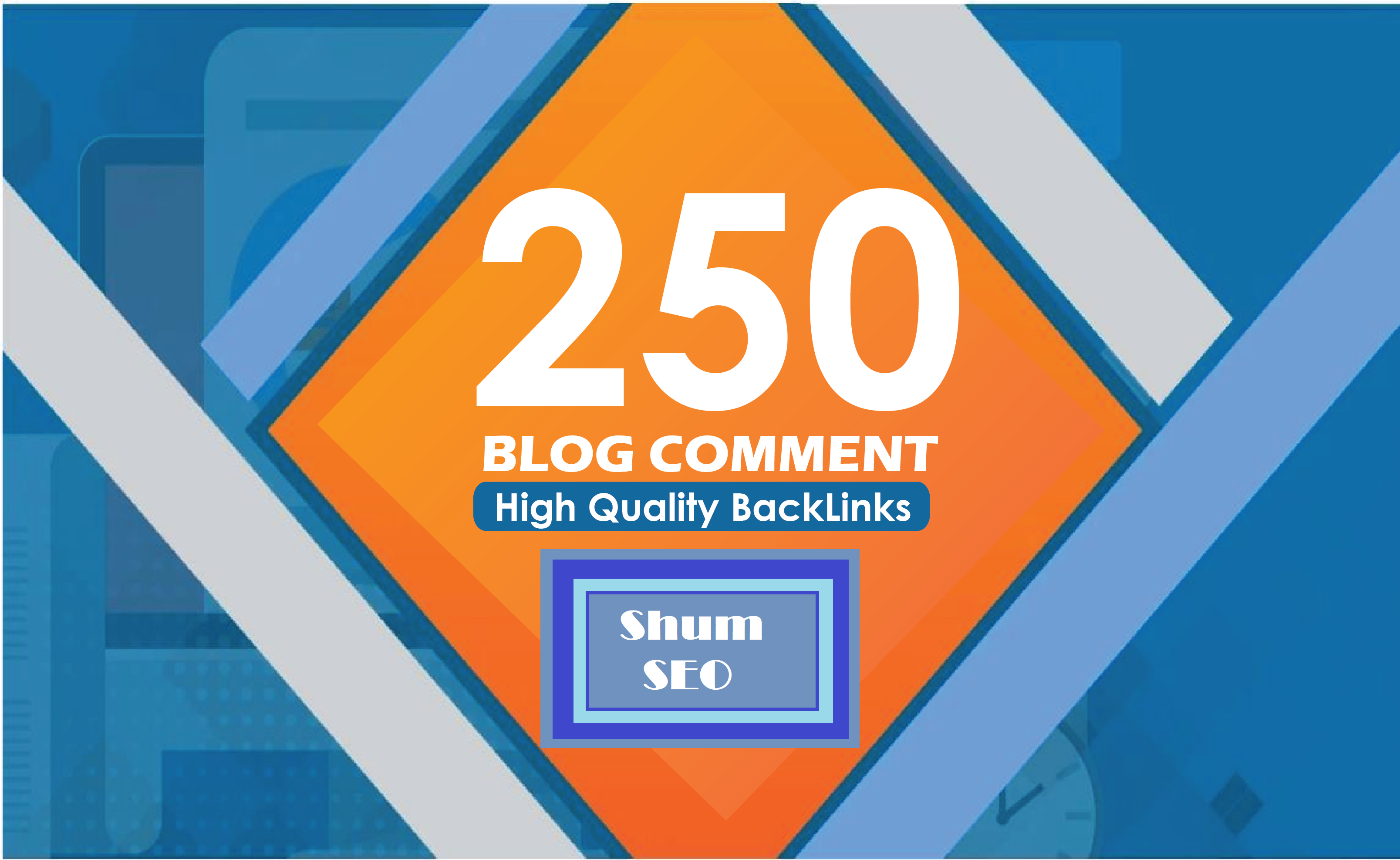 provide 250 blog comments high quality backlinks