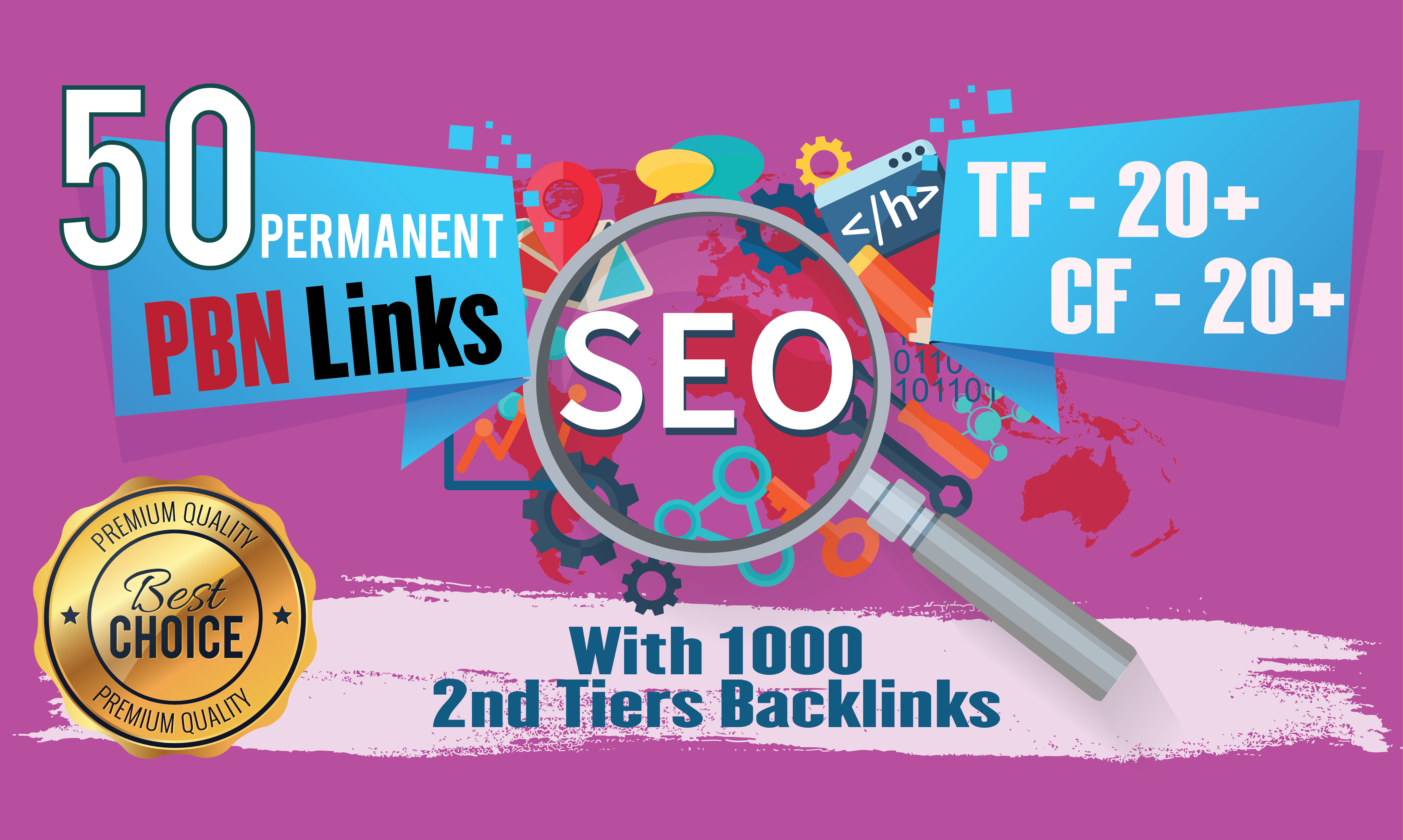 2020 Strong 50 Homepage Permanent PBN With 1000 2nd Tiers Backlinks