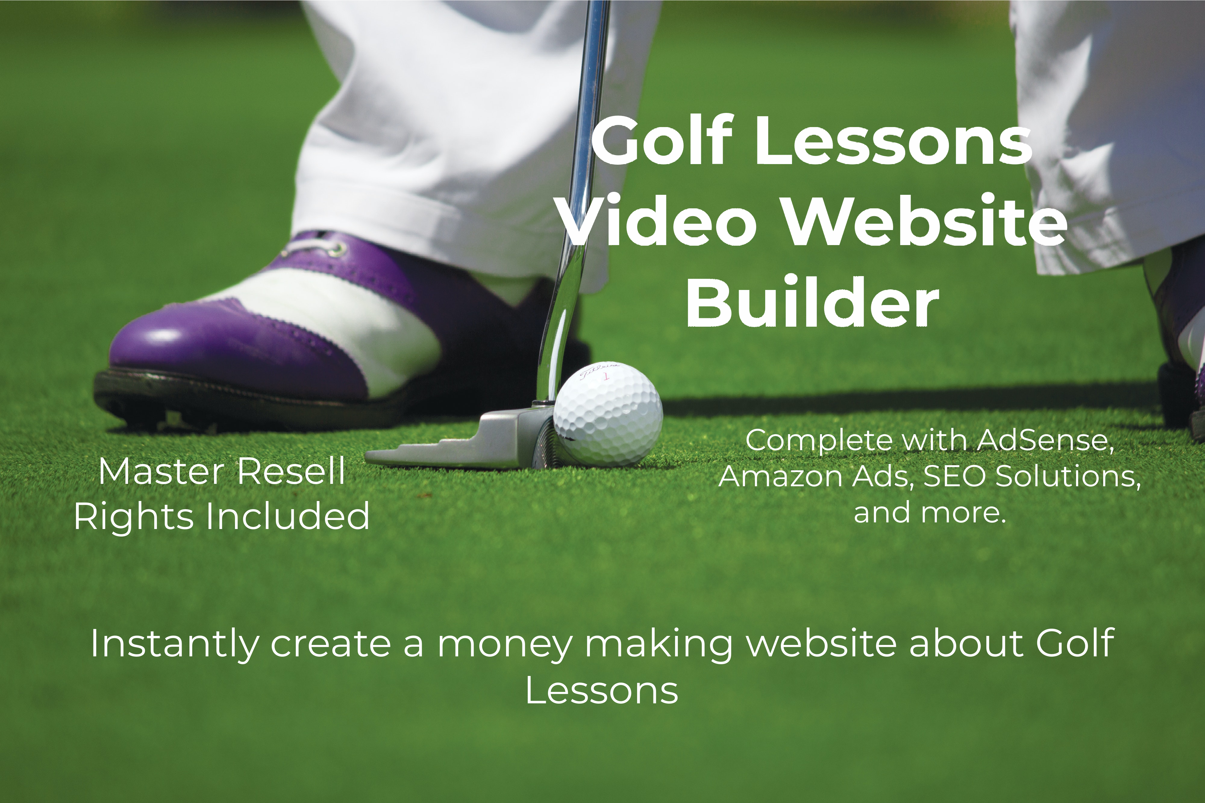 Golf Lessons Video Website Builder With AdSense,  Amazon Ads,  SEO,  and MRR