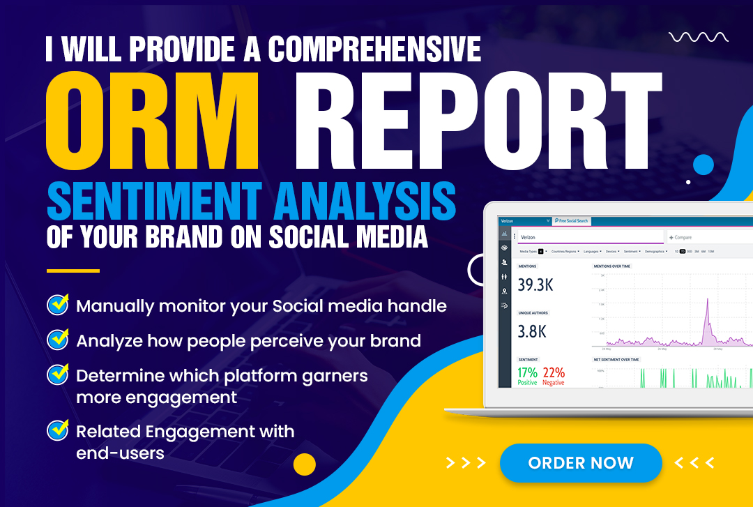 I will Monitor & provide an weekly ORM report of ur name or brand