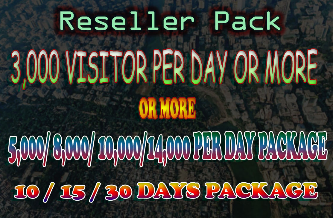 3,000+ Visitors per day for your customers Website or Blog From Search Engine