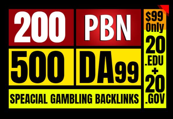I Will Provide All In One Service PBN. Edu. Gov And High DA-PA SEO Backlinks CASINO POKER