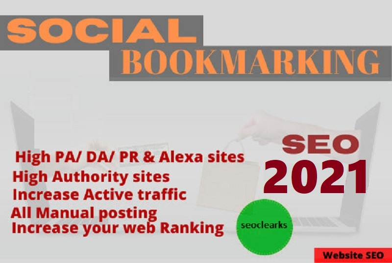 I will make 400 social bookmarking in high da pa sites manually