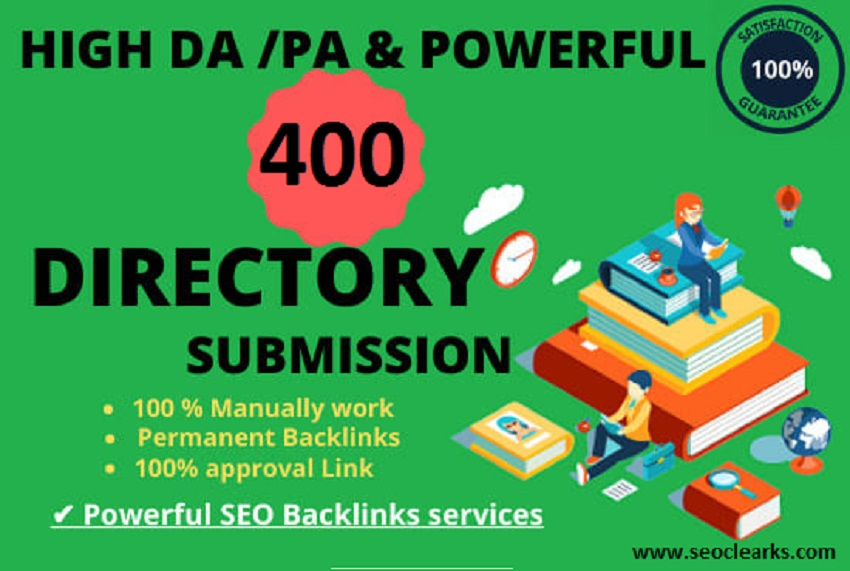 I will submit manually 400 directory submission powerful backlinks