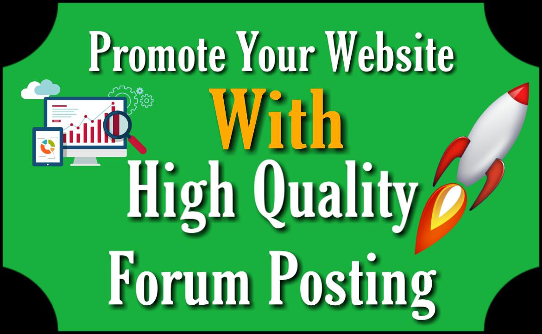 Forum Posting Service 50 High Quality Contextual Links DA20+ PA20+