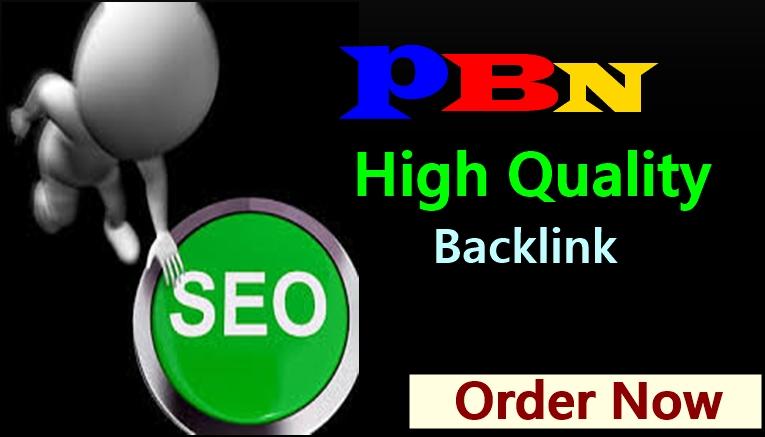 Build High Quality 5 PBN Backlinks with high PA, DA homepage
