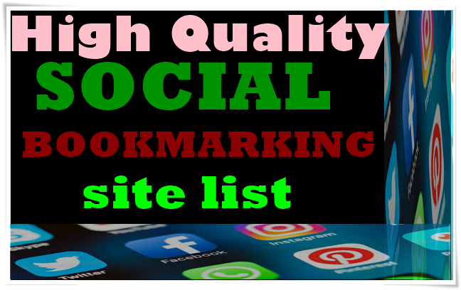 I will do excellent social bookmarking for your website.