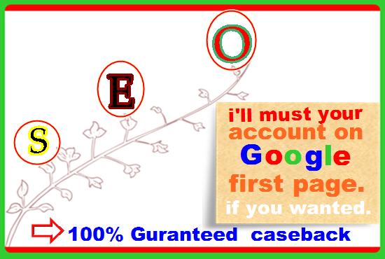 Google 1st page ranking on Your Website best result, Highquality Backlink.