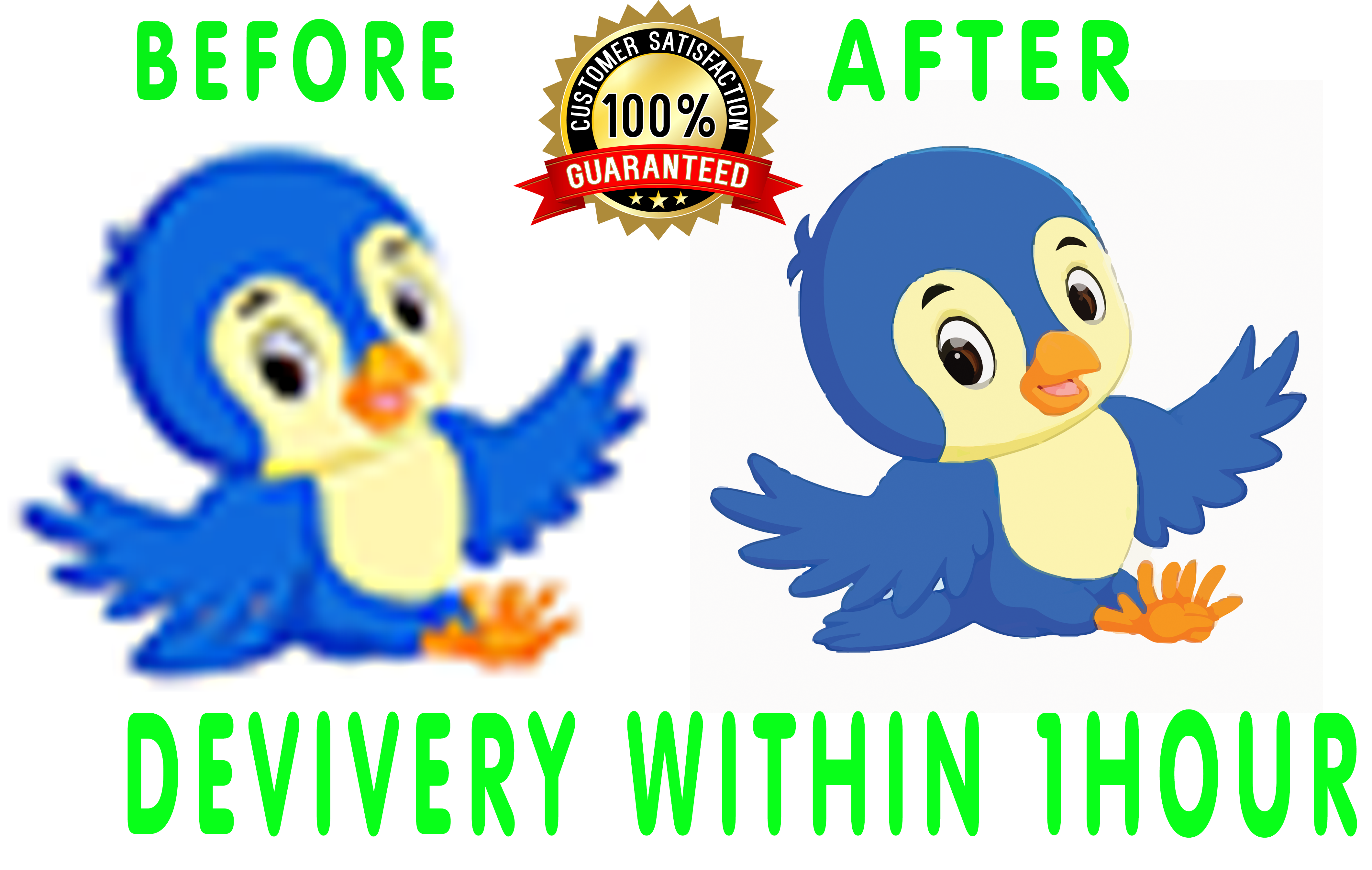 I will vectorize,  convert logo to HD vector,  vector tracing,  image,  trace, low, raster, ai