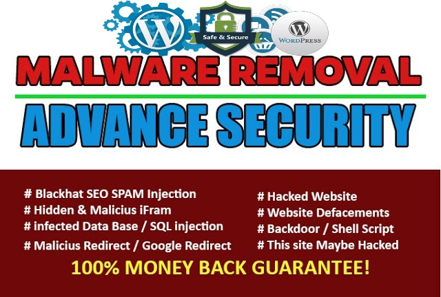 fix hacked wordpress website, malware remove, security