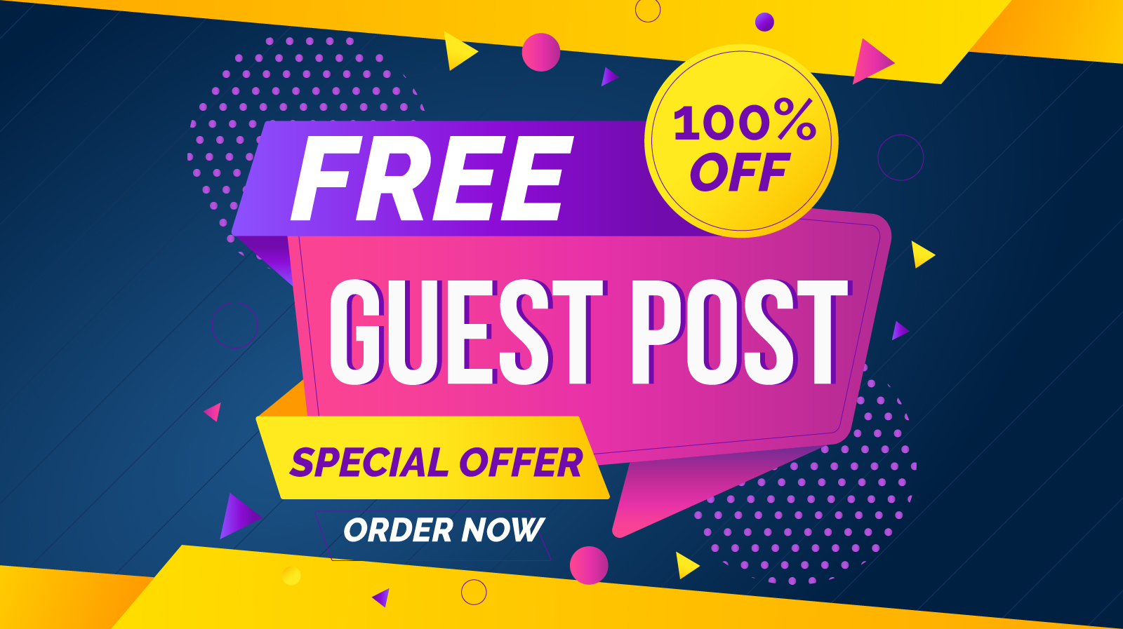I will do your guest post without any fees just message me