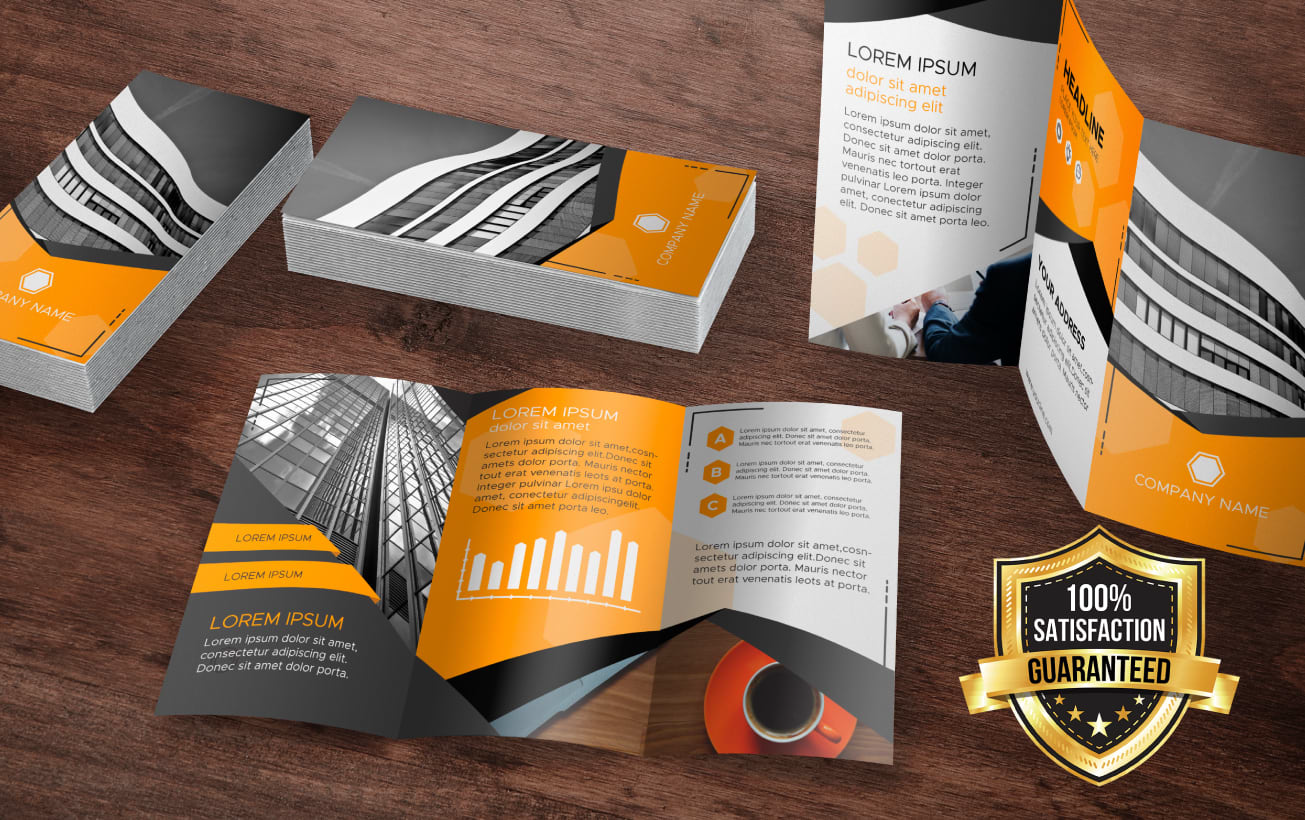 I will attractive and creative 3 fold brochure design for your business