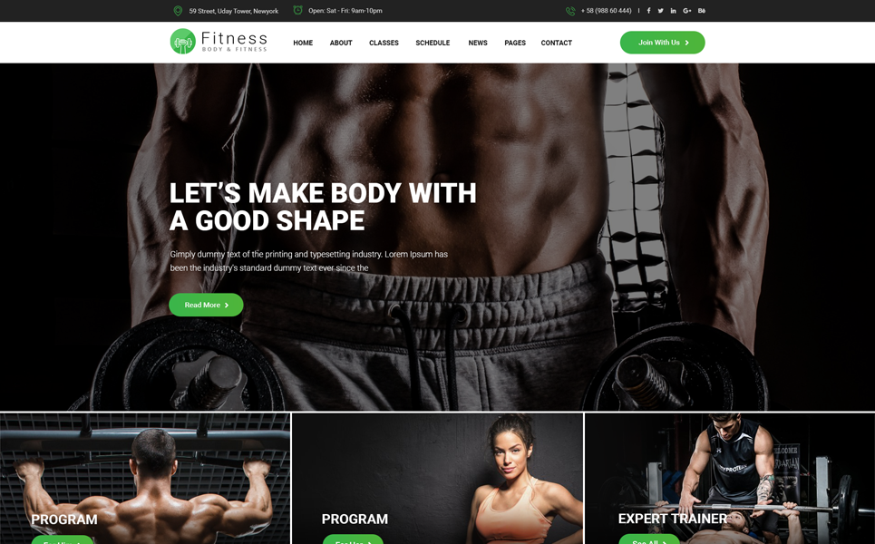 create attractive fitness, sports, gym, workout website