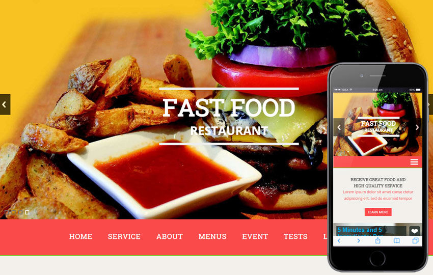 Make a beautiful website for your restaurant