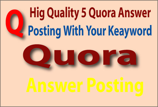 I will Submit your website 20 best high quality quora answers...