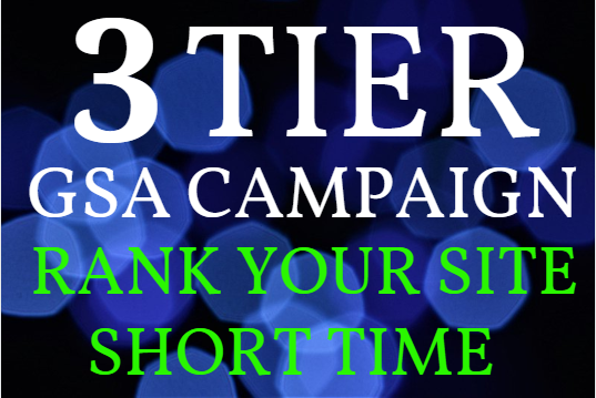Provide 100k+ GSA Backlinks from Tier1,  Tier2 and Tier 3