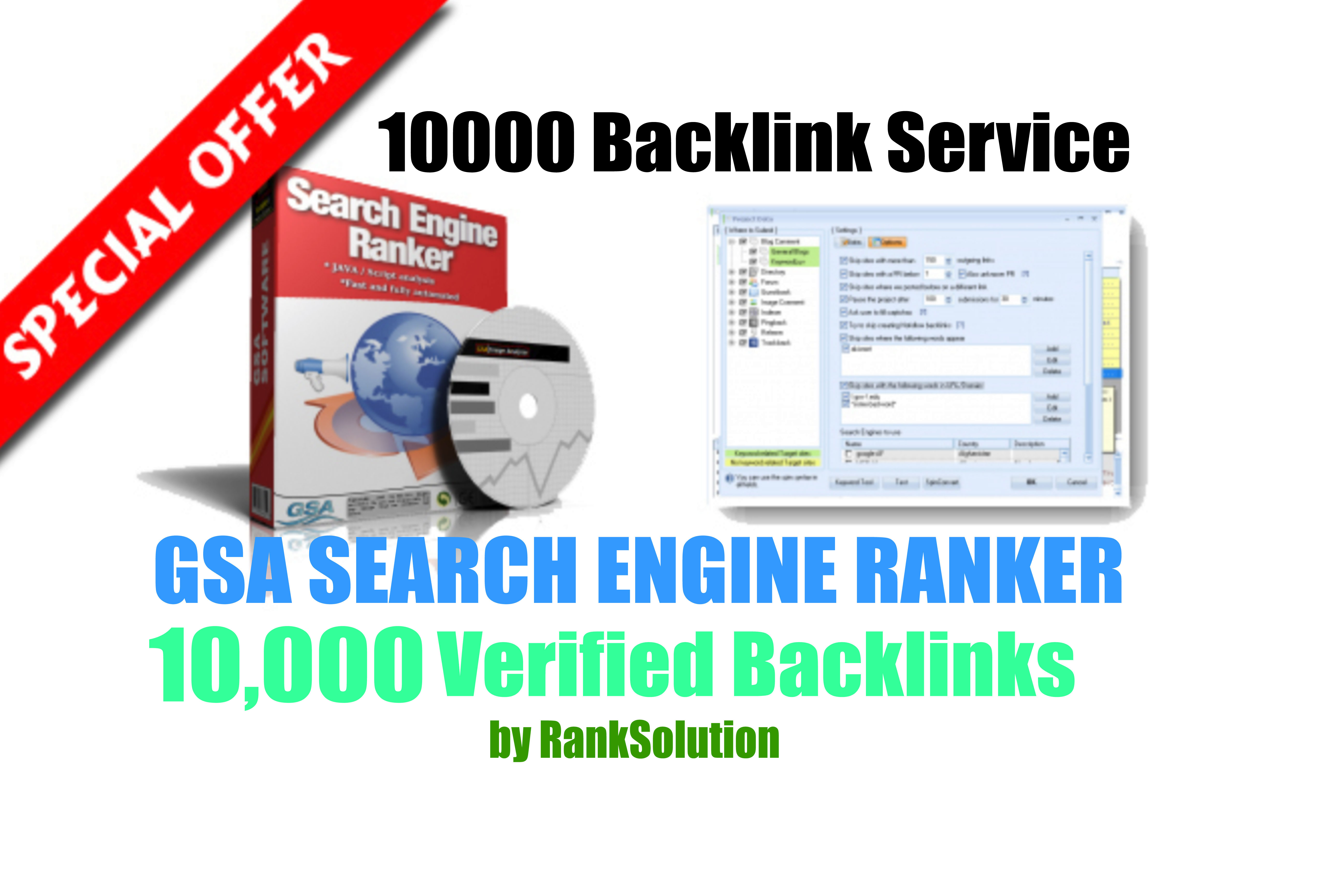 10000 GSA SER Backlinks easy Link Juice and Faster Index