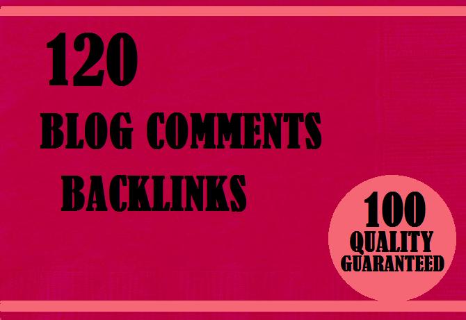 Provide 120 Manual do follow blog comments high pa da backlinks