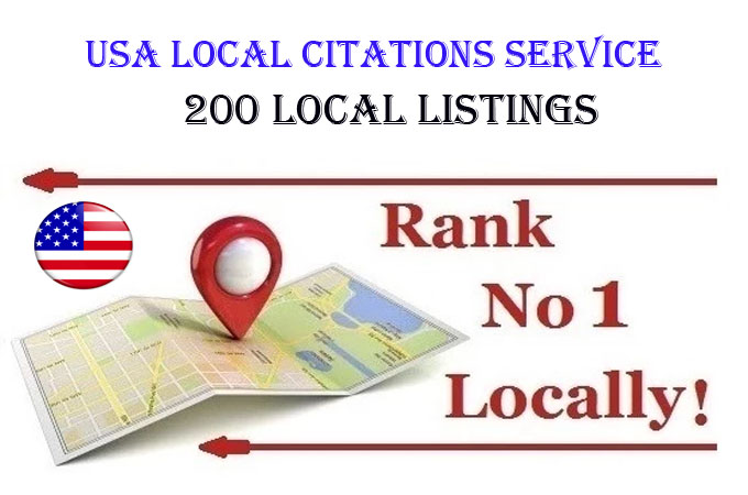 I will do 30 local listings for USA local business ranking