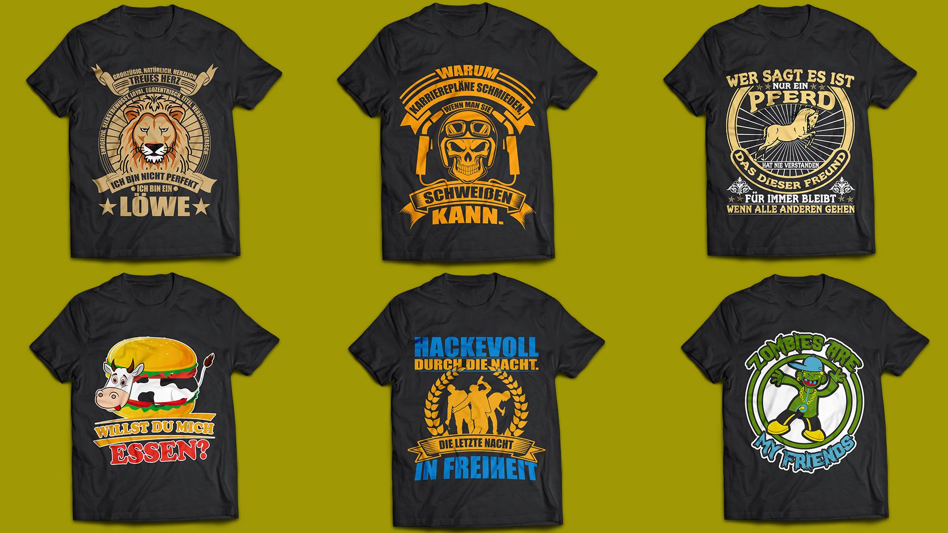 I will Create Custom Trendy T-Shirt Design