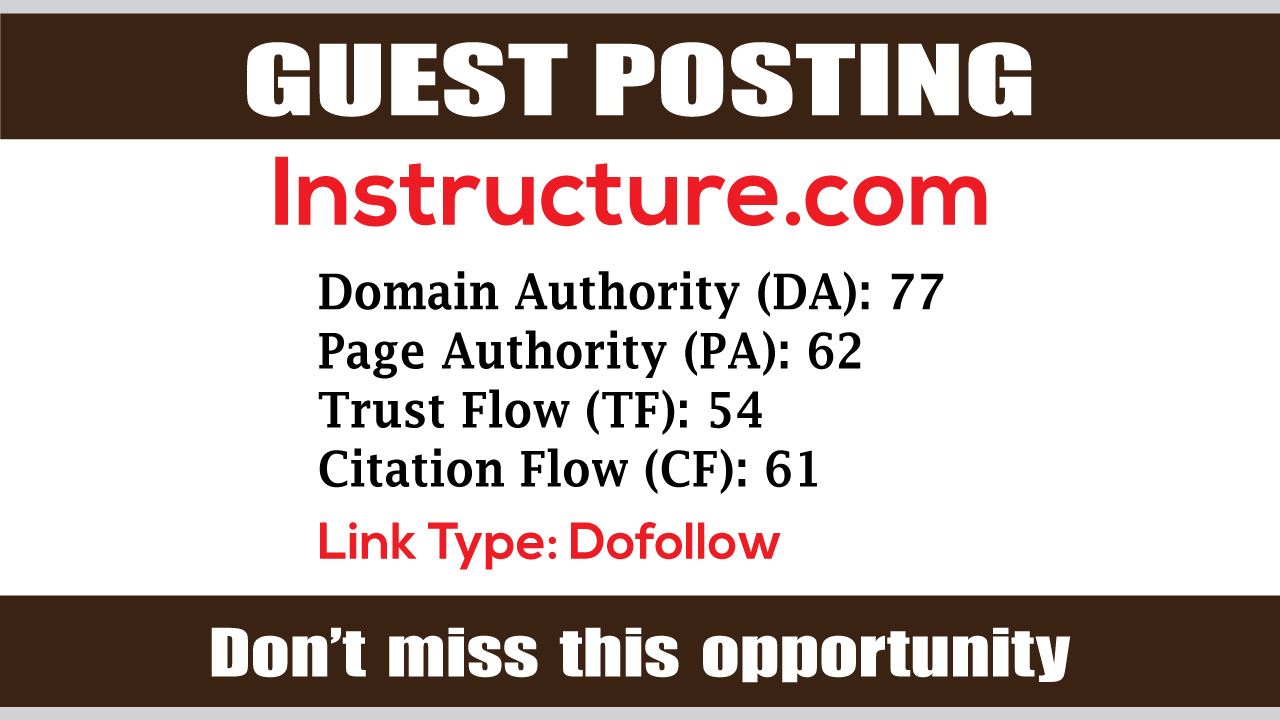 write and publish Guest Post on Instructure DA71 - DofoIIow Link